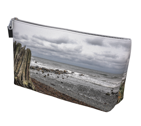 Gray Day Makeup Bag by vanislegoddess.com available in 2 sizes