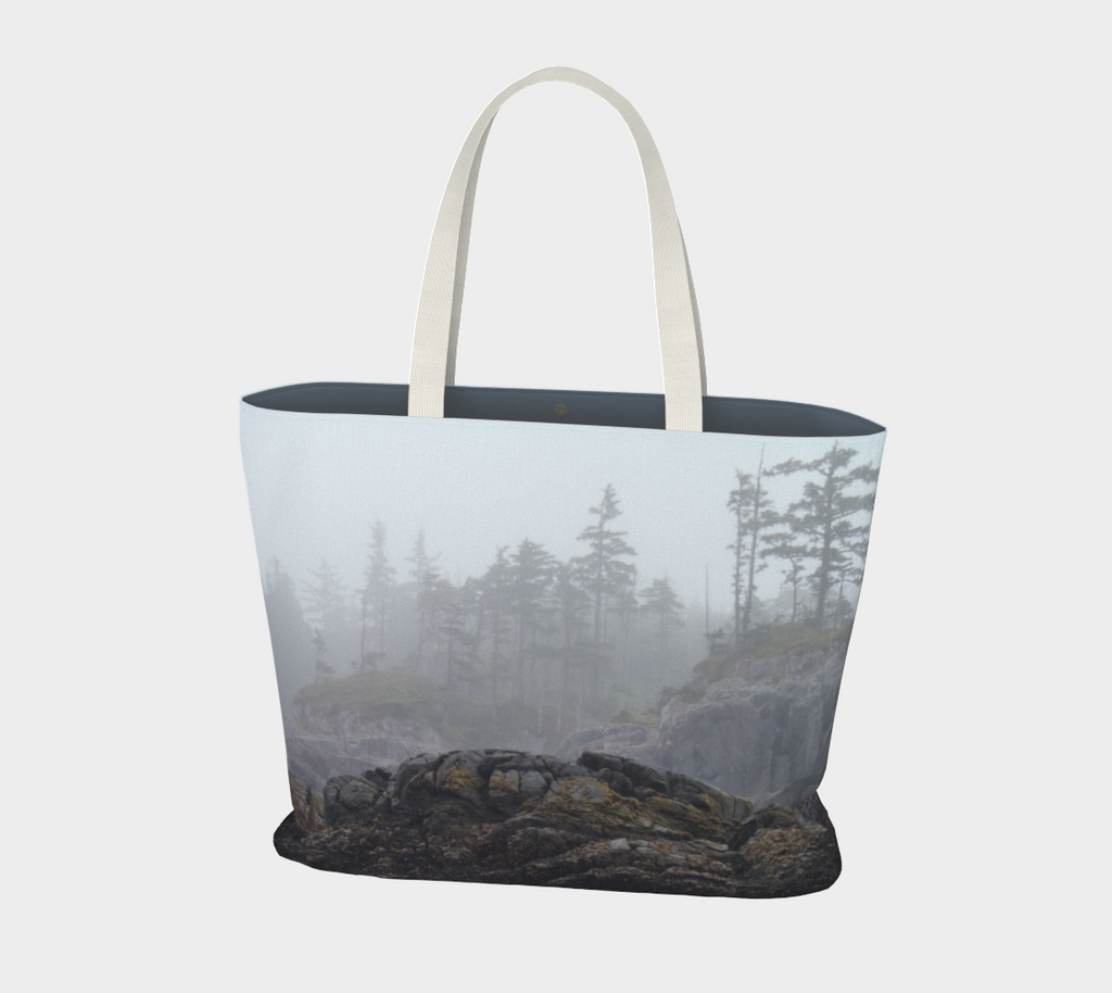 Van Isle Goddess West Coast Fog oversized Market Tote.