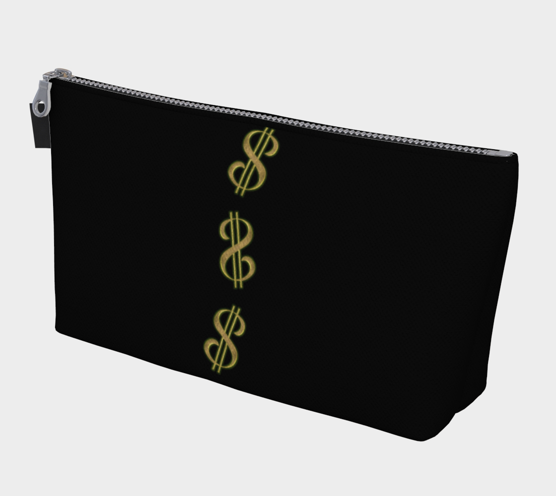 Vegas Dollars Las Vegas Makeup Travel Bag You can use this versatile case for almost anything!  Makeup, change purse, phone holder, cords and chargers, art pencils, keys, vacation money, protect your passport or organize almost anything you wish.    Artwork by Roxy Hurtubise