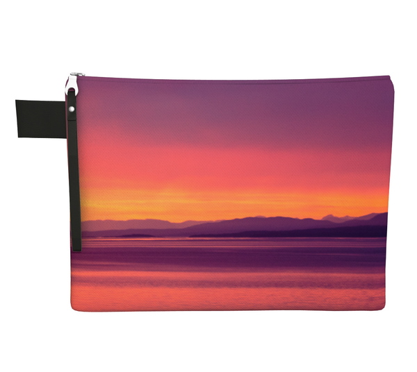 Vancouver Island Sunset Zipper Carry All by Vanislegoddess.com available in 4 sizes.
