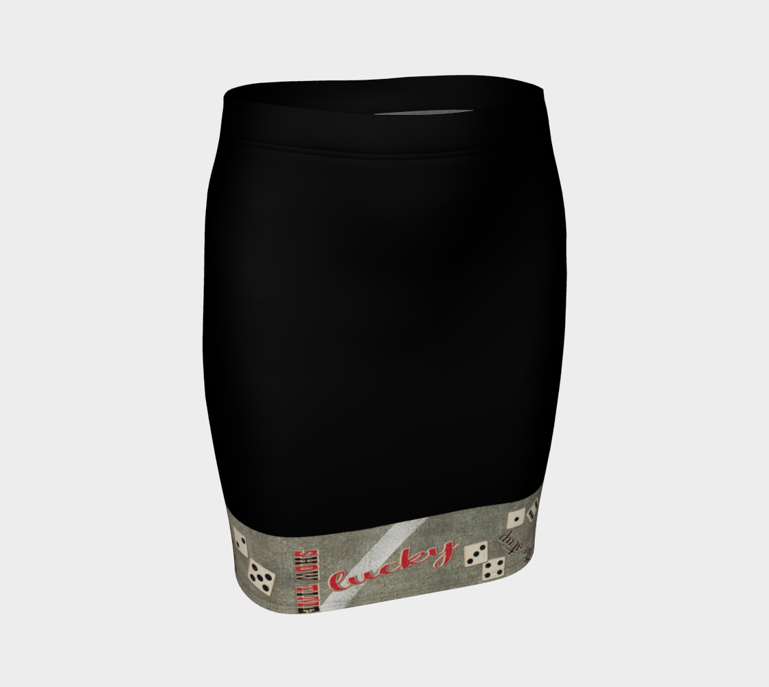 The Strip Las Vegas Fitted Skirt  Our vibrant, body hugging fitted skirts can be paired with a tunic top for the office, or dressed up for a night out! by vanislegoddess.com