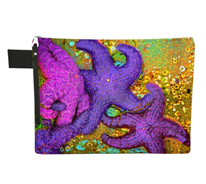 Starfish Cluster Zipper Carry All by Vanislegoddess.com available in 4 sizes.