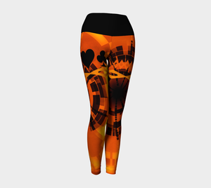 Nevada Dusk Till Dawn II Las Vegas Yoga Leggings Look amazing in my Las Nevada Dusk Till Dawn II Las Vegas design!  Party all night long in my Nevada Dusk till Dawn design!  Beautiful sun and desert colours!  Roll the dice, place your chips, it's showtime and your the star!  Great travel wear.  By Van Isle Goddess