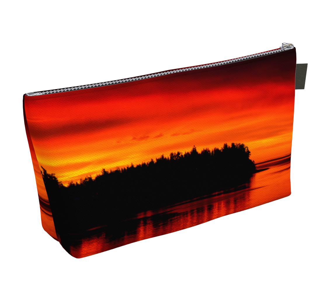Awesome Sunset Parksville Beach Makeup Bag select from 2 sizes by Van Isle Goddess