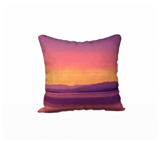 Vancouver Island Sunset 18 x 18 Pillow Case