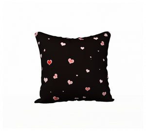 Hearts In The Night 18 x 18 Pillow Case