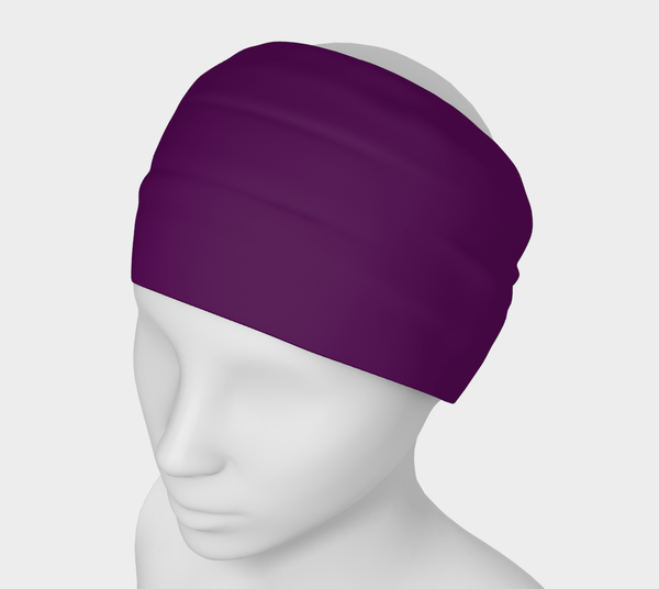 Heart Centered Purple Vibe Solid Colour Headband  Art meets the most versatile of fashion accessories. The headband.    You can wear it in so many different ways: a pony tail holder, hood, face mask, hat liner, wrist band, sun protector.   So easy to wear. Perfect for working out, staying warm, hiking, or as a pop of colour to add to any look.  Compact enough to fit in your pocket, purse, or back pack.  Makes a great gift idea too! By VanIsleGoddess.Com