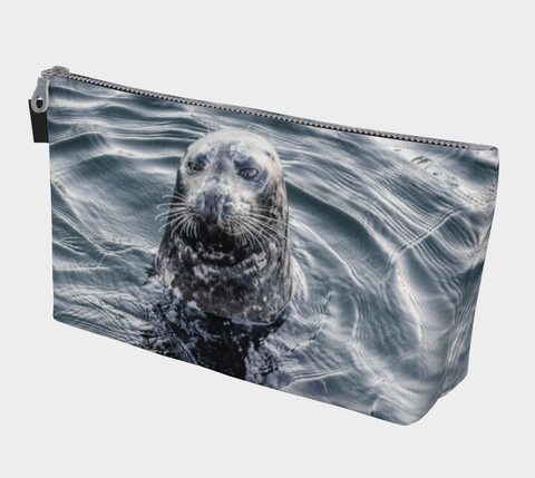 I Love Lucy Seal Vancouver Island Makeup Travel Bag