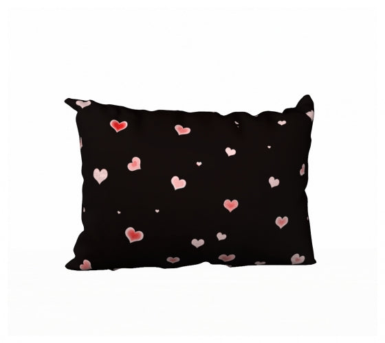Hearts In The Night 20 x 14 Pillow Case
