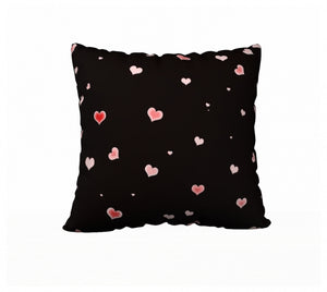 Hearts In The Night 22 x 22 Pillow Case