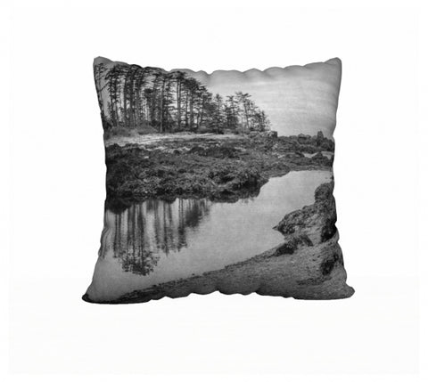 "Big Beach Ucluelet 22"" x 22"" Pillow Case"