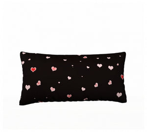 Hearts in The Night 24 x 12 Pillow Case