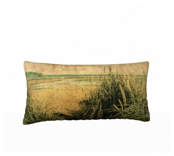 Vintage Beach 24 x 12 Pillow Case
