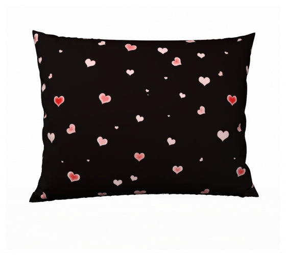 Hearts In The Night 26 x 20 Pillow Case