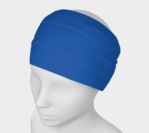 Seal Of Blue Blue Solid Colour Headband  Art meets the most versatile of fashion accessories. The headband.    You can wear it in so many different ways: a pony tail holder, hood, face mask, hat liner, wrist band, sun protector.   So easy to wear. Perfect for working out, staying warm, hiking, or as a pop of colour to add to any look.  Compact enough to fit in your pocket, purse, or back pack.  Makes a great gift idea too! By VanIsleGoddess.Com
