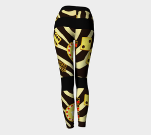 Lucky Las Vegas Yoga Leggings Look amazing in my Lucky Las Vegas design!  Roll the dice, place your chips, it's showtime and your the star!  Great travel wear.  By Van Isle Goddess