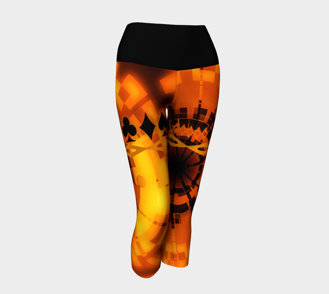 Nevada Dusk Till Dawn II Las Vegas Yoga Capris Party all night long in my Nevada Dusk till Dawn II design!   Roll the dice, place your chips, it's showtime and your the star!  Great travel wear.  By Van Isle Goddess