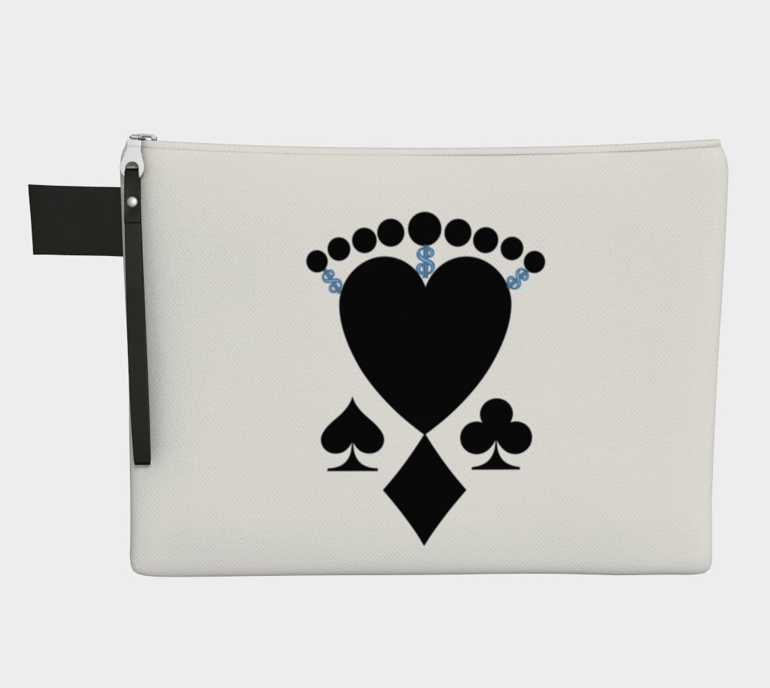 Queen of Cards Las Vegas Zippered Carry All  You can use these versatile zipper pouches for almost anything!