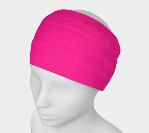 Activated Pink Headband  Art meets the most versatile of fashion accessories. The headband.    You can wear it in so many different ways: a pony tail holder, hood, face mask, hat liner, wrist band, sun protector.   So easy to wear. Perfect for working out, staying warm, hiking, or as a pop of colour to add to any look.  Compact enough to fit in your pocket, purse, or back pack.  Makes a great gift idea too! VanIsleGoddess.com