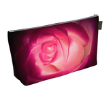Illuminated Rose Makeup Bag by Vanislegoddess.com is available in 2 sizes.
