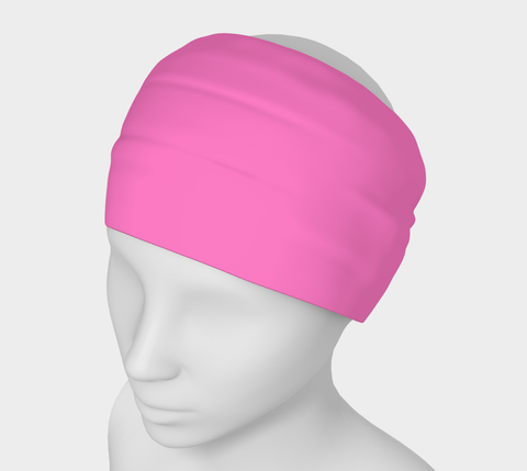 Pink Sand Pink Solid Colour Headband  Art meets the most versatile of fashion accessories. The headband.    You can wear it in so many different ways: a pony tail holder, hood, face mask, hat liner, wrist band, sun protector.   So easy to wear. Perfect for working out, staying warm, hiking, or as a pop of colour to add to any look.  Compact enough to fit in your pocket, purse, or back pack.  Makes a great gift idea too! By VanIsleGoddess.com