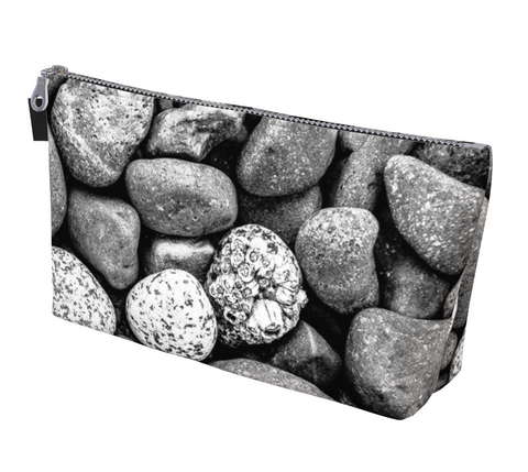 Beach Rocks Makeup Bag by Van Isle Goddess Vancouver island available in 2 sizes
