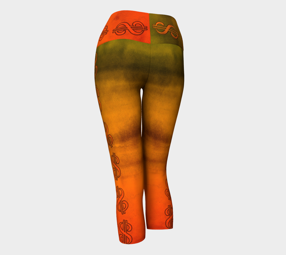Nevada Dusk Till Dawn Las Vegas Yoga Capris Party all night long in my Nevada Dusk till Dawn design!  Beautiful sun and desert colours!  Roll the dice, place your chips, it's showtime and your the star!  Great travel wear.  By Van Isle Goddess