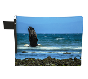 Fly Like An Eagle Zipper Carry All by Vanislegoddess.com available in 4 sizes.