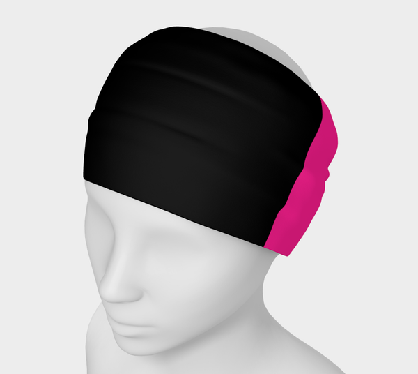 Black White Pink Goddess Solid Colour Headband  Art meets the most versatile of fashion accessories. The headband.    You can wear it in so many different ways: a pony tail holder, hood, face mask, hat liner, wrist band, sun protector.   So easy to wear. Perfect for working out, staying warm, hiking, or as a pop of colour to add to any look.  Compact enough to fit in your pocket, purse, or back pack.  Makes a great gift idea too! By VanIsleGoddess.Com