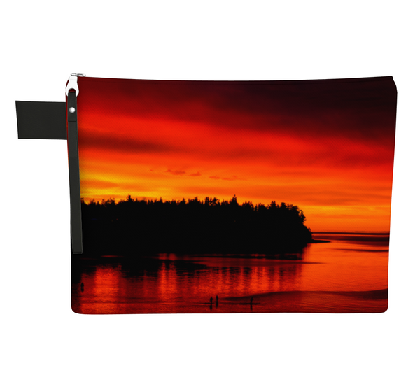 Awesome Sunset Zipper Carry all by Vanislegoddess.com available in 4 sizes.