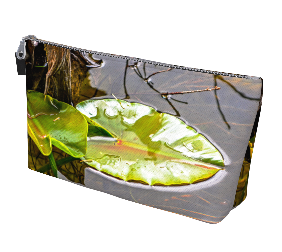 Peaceful Reflections makeup bag by Vanislegoddess.com available in 2 sizes.
