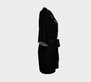 Vegas Dollars Las Vegas Kimono Robe  Show me the money!!  Simple design in black with gold dollar signs for good luck!