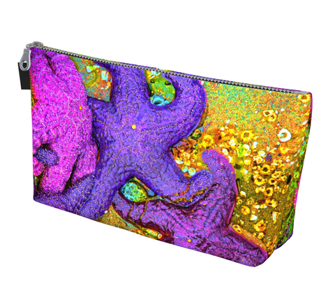 Starfish Cluster Makeup Bag by Vanislegoddess.com available in 2 sizes.