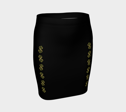 Vegas Dollars Las Vegas Fitted Skirt  Our vibrant, body hugging fitted skirts can be paired with a tunic top for the office, or dressed up for a night out! by vanislegoddess.com