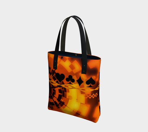 Nevada Dusk Till Dawn II Las Vegas Urban (lined) Tote Bag