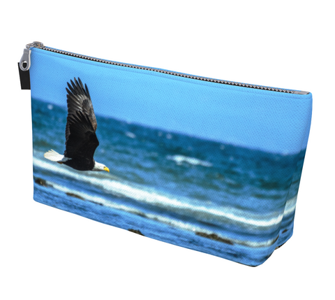 Fly Like An Eagle Makeup Bag by Van Isle Goddess Vancouver Island available in 2 sizes.