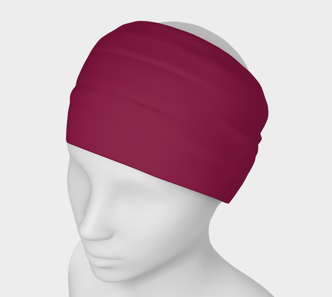 Illuminated Rose Ruby Solid Colour Headband  Art meets the most versatile of fashion accessories. The headband.    You can wear it in so many different ways: a pony tail holder, hood, face mask, hat liner, wrist band, sun protector.   So easy to wear. Perfect for working out, staying warm, hiking, or as a pop of colour to add to any look.  Compact enough to fit in your pocket, purse, or back pack.  Makes a great gift idea too! By VanIsleGoddess.Com