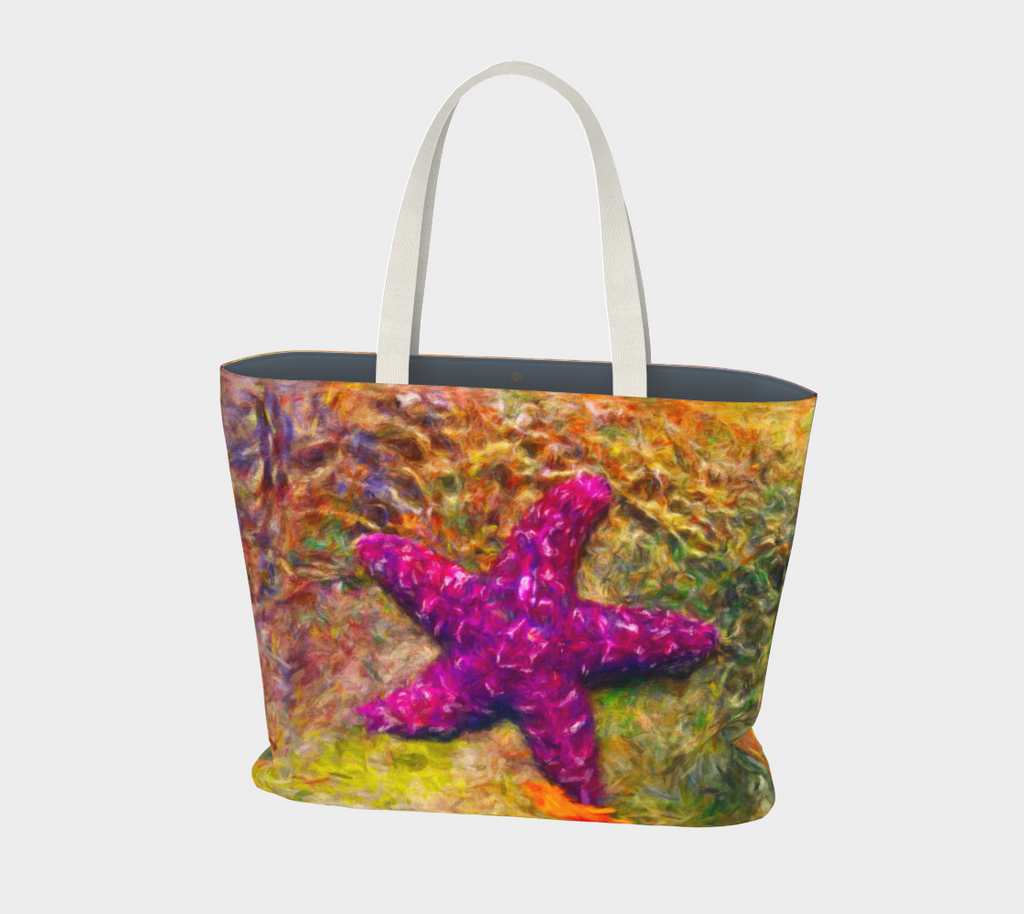 Van Isle Goddess Starfish Attraction oversized Market Tote.
