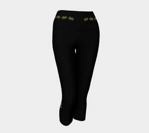 Vegas Dollars Las Vegas Yoga Capris Show me the money!! Simple design in black with gold dollar signs for good luck!  Roll the dice, place your chips, it's showtime and your the star!  Great travel wear.