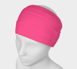 Illuminated Rose Pink Solid Colour Headband  Art meets the most versatile of fashion accessories. The headband.    You can wear it in so many different ways: a pony tail holder, hood, face mask, hat liner, wrist band, sun protector.   So easy to wear. Perfect for working out, staying warm, hiking, or as a pop of colour to add to any look.  Compact enough to fit in your pocket, purse, or back pack.  Makes a great gift idea too! By VanIsleGoddess.Com