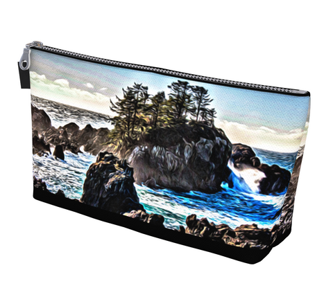 Coastal Energy Makeup Bag by Van Isle Goddess Vancouver Island available in 2 sizes.