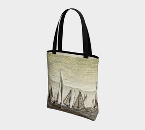 Yacht Race Tote Bag
