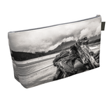Driftwood Monument Makeup Bag by Van Isle Goddess Vancouver Island available in 2 sizes.