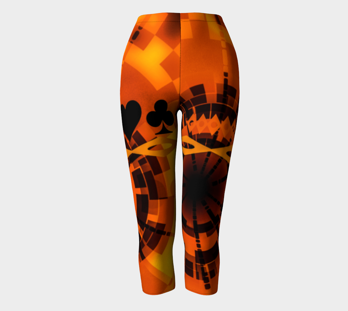 Nevada Dusk Till Dawn II Las Vegas Capris Look amazing in my Nevada Dusk till Dawn Las Vegas design! Party all night long in my Nevada Dusk till Dawn design!   Roll the dice, place your chips, it's showtime and your the star!  Great travel wear. By Van Isle Goddess