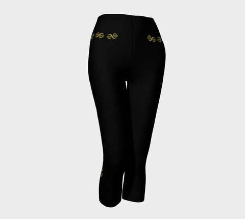 Vegas Dollars Las Vegas Capris Show me the money!! Simple design in black with gold dollar signs for good luck!   Roll the dice, place your chips, it's showtime and your the star!  Great travel wear. By Van Isle Goddess