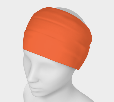 In The Sunshine Orange Solid Colour Headband  Art meets the most versatile of fashion accessories. The headband.    You can wear it in so many different ways: a pony tail holder, hood, face mask, hat liner, wrist band, sun protector.   So easy to wear. Perfect for working out, staying warm, hiking, or as a pop of colour to add to any look.  Compact enough to fit in your pocket, purse, or back pack.  Makes a great gift idea too! By VanIsleGoddess.Com
