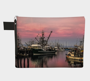 Sunset Marina Adventure Tote Zipper Carry All