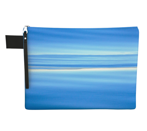 Ocean Blue Zipper Carry All by Vanislegoddess.com available in 4 sizes.