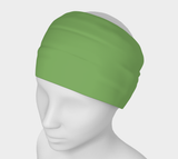 Heart Centered Green Solid Colour Headband  Art meets the most versatile of fashion accessories. The headband.    You can wear it in so many different ways: a pony tail holder, hood, face mask, hat liner, wrist band, sun protector.   So easy to wear. Perfect for working out, staying warm, hiking, or as a pop of colour to add to any look.  Compact enough to fit in your pocket, purse, or back pack.  Makes a great gift idea too! By VanIsleGoddess.Com