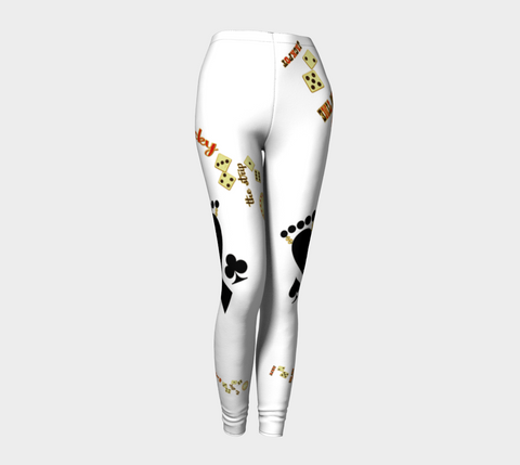 Lucky White Las Vegas Leggings by Van Isle Goddess